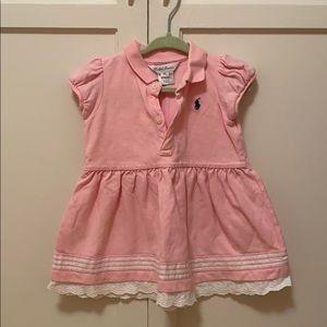 Lacy pink Ralph Lauren dress